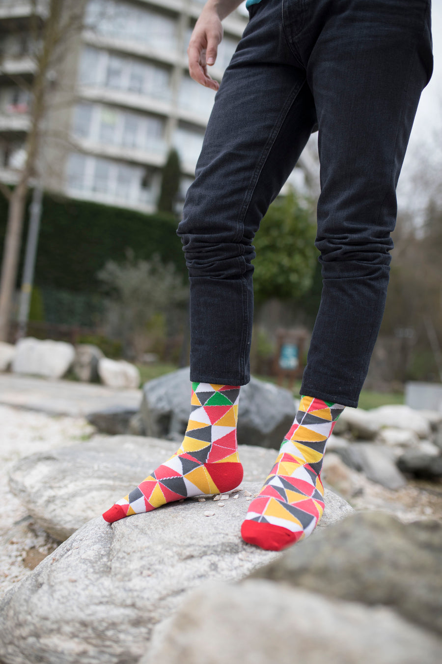 Men's Flame Triangle Socks