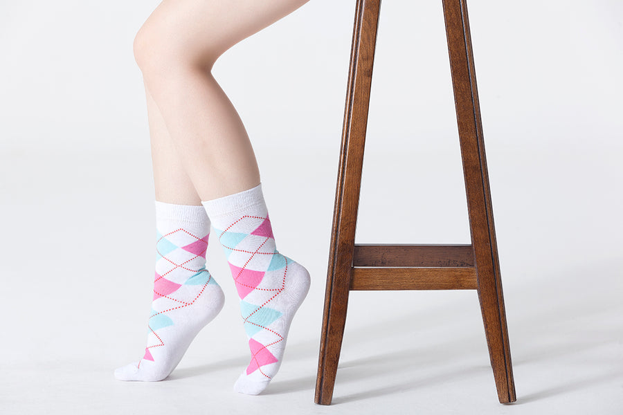 Candy Argyle Socks