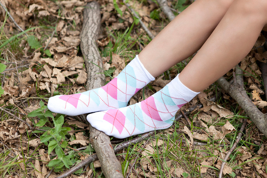 Women's Fun Argyle Set Socks Set
