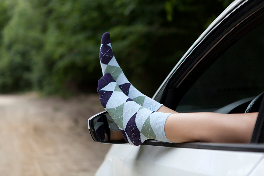 Teal Sea Argyle Socks