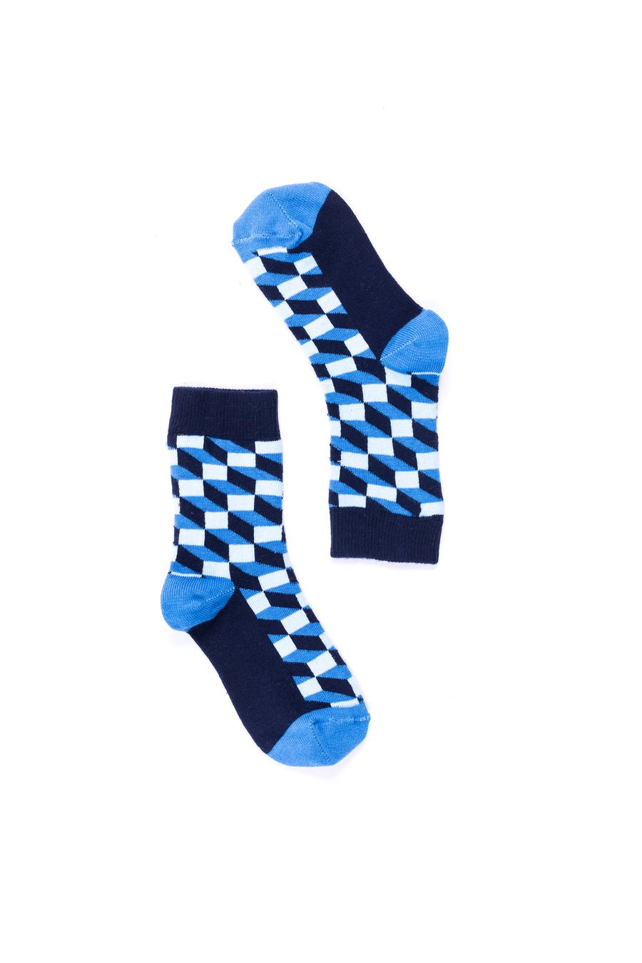 Women's Navy Block Socks