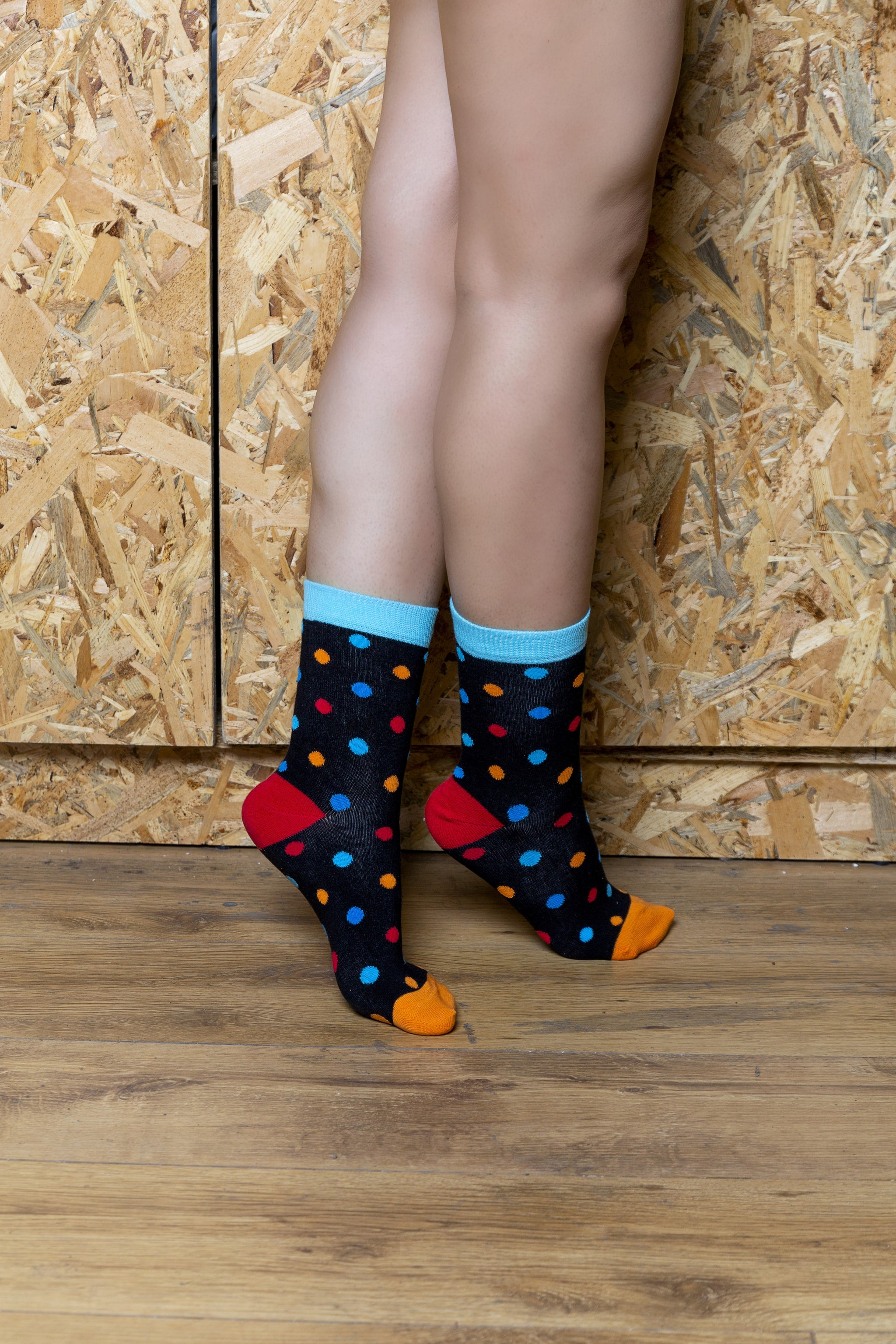 Women's Black Sky Dot Socks
