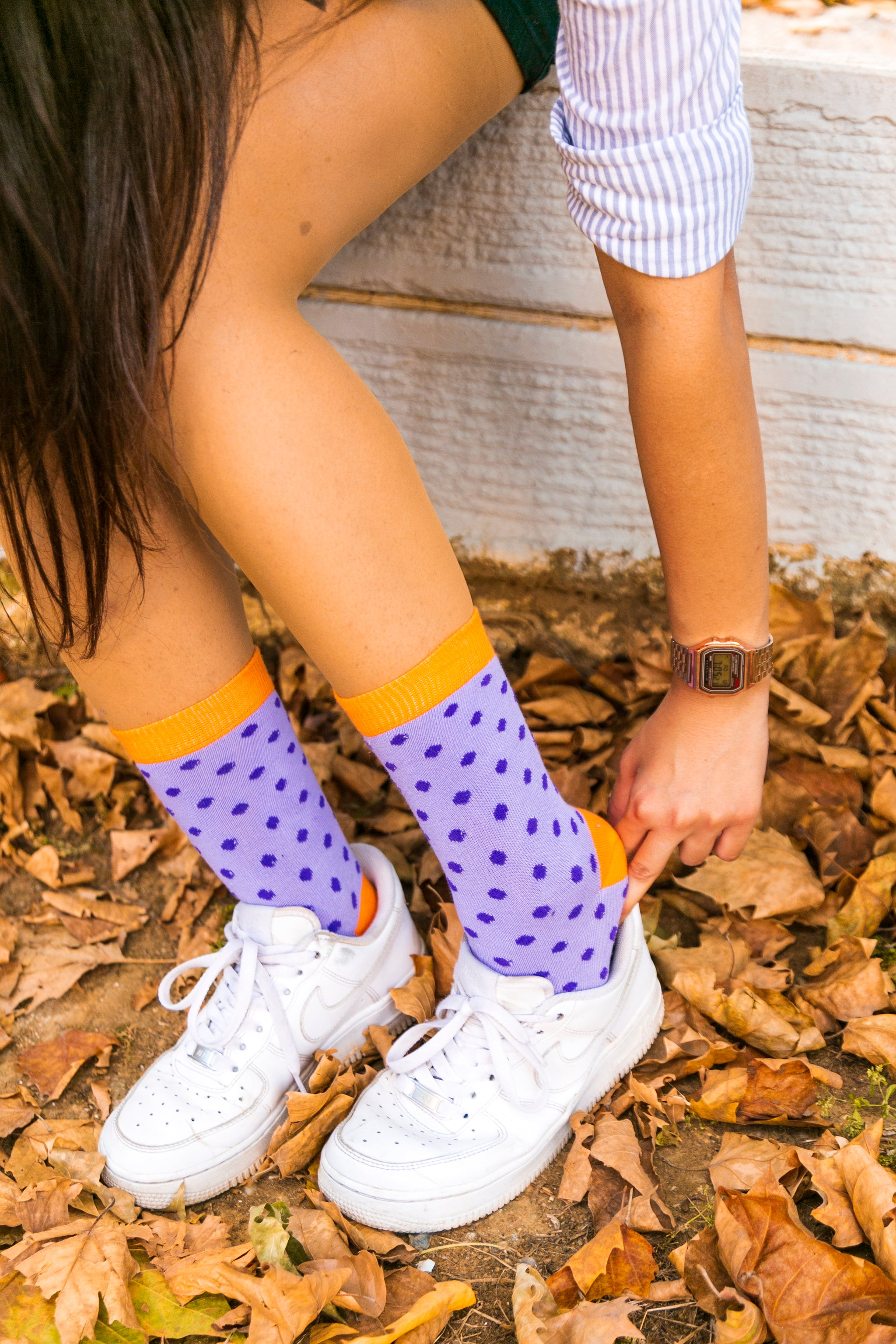 Women's Amethyst Dot Socks