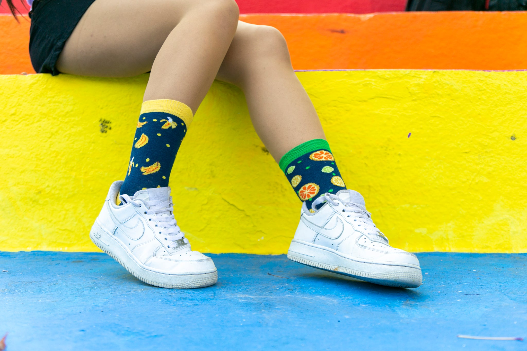 Women's Cheerful Fruits Socks Set