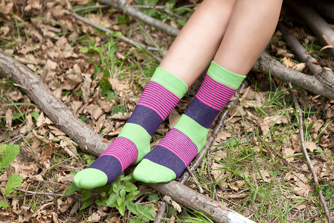 Women's Solid Mix Set Socks Set