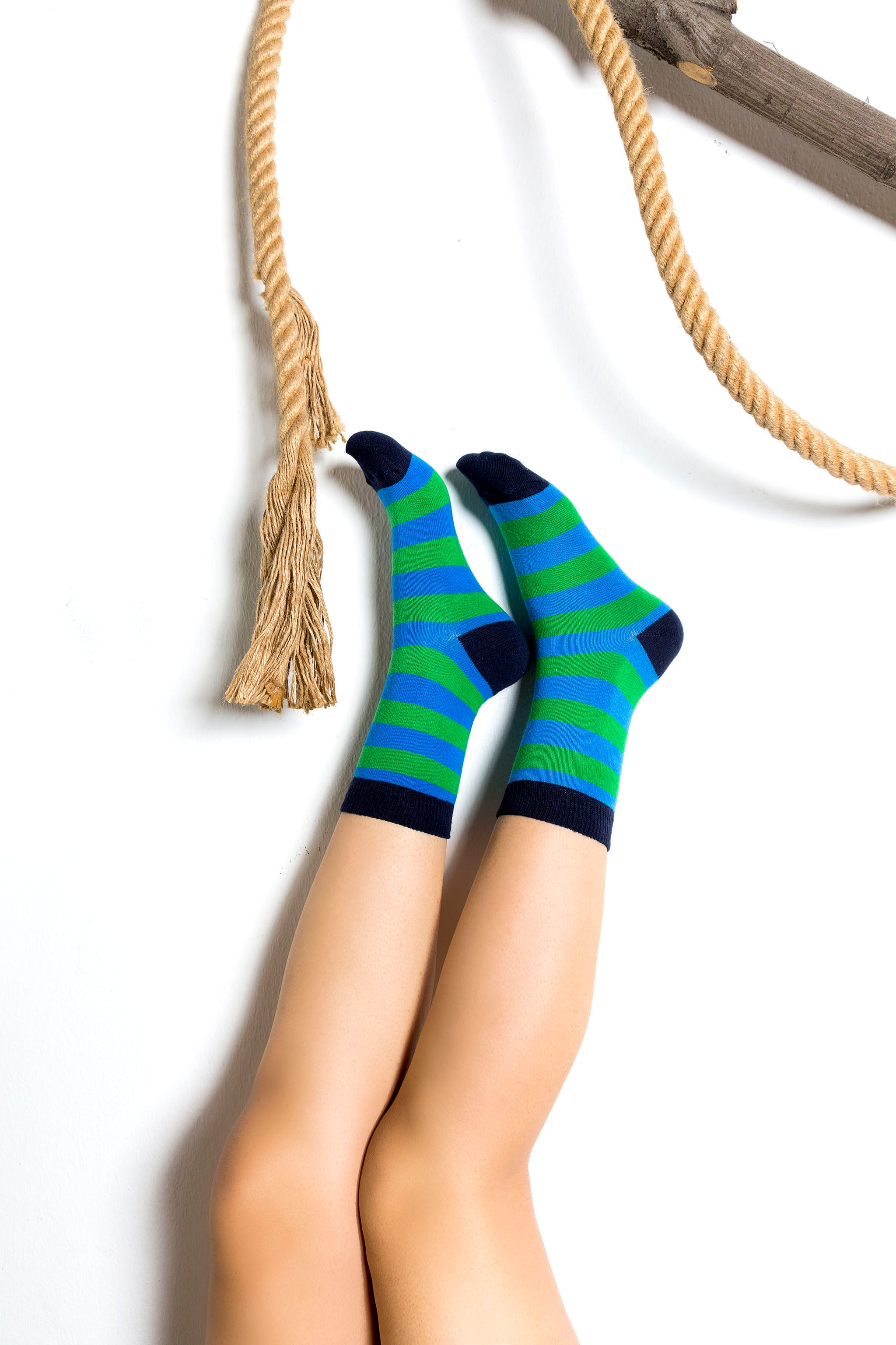 Women's Popular Stripes Socks Set