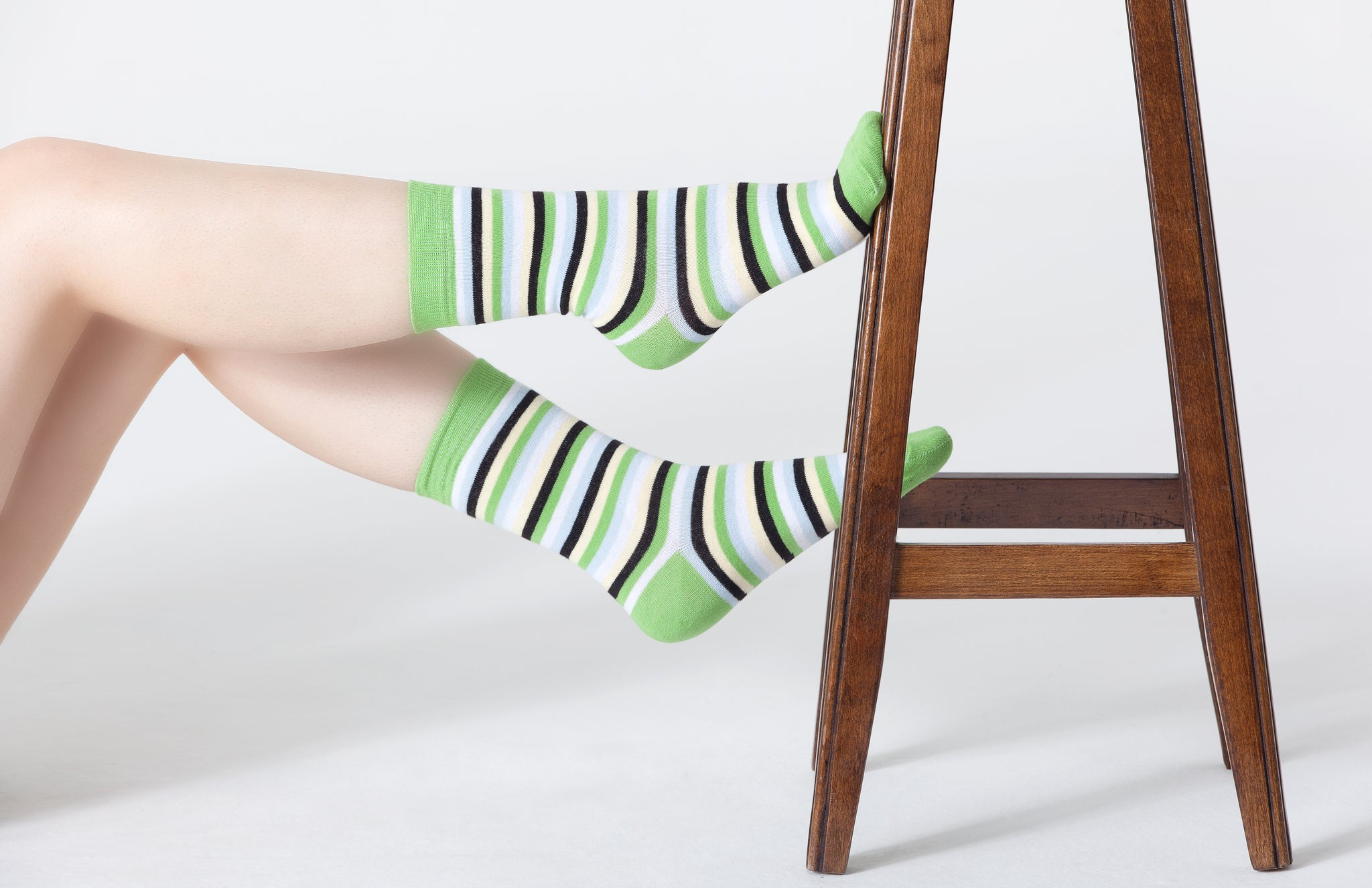 Women's Mint Stripe Socks