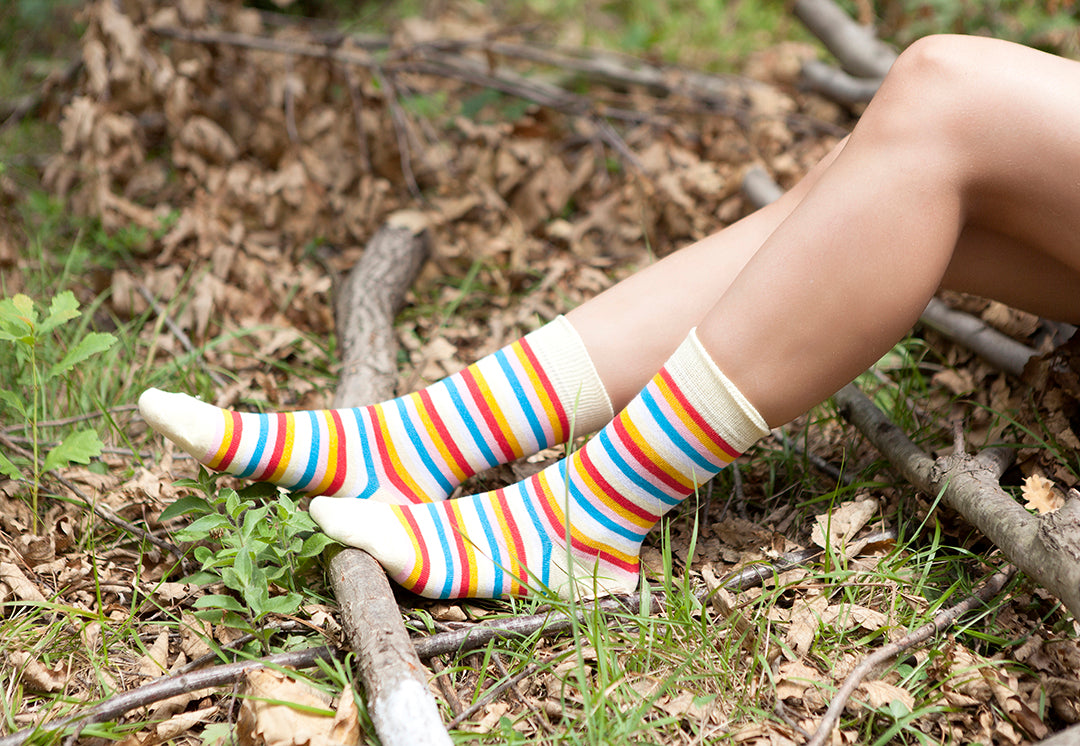 Women's Cool Stripe Set Socks Set