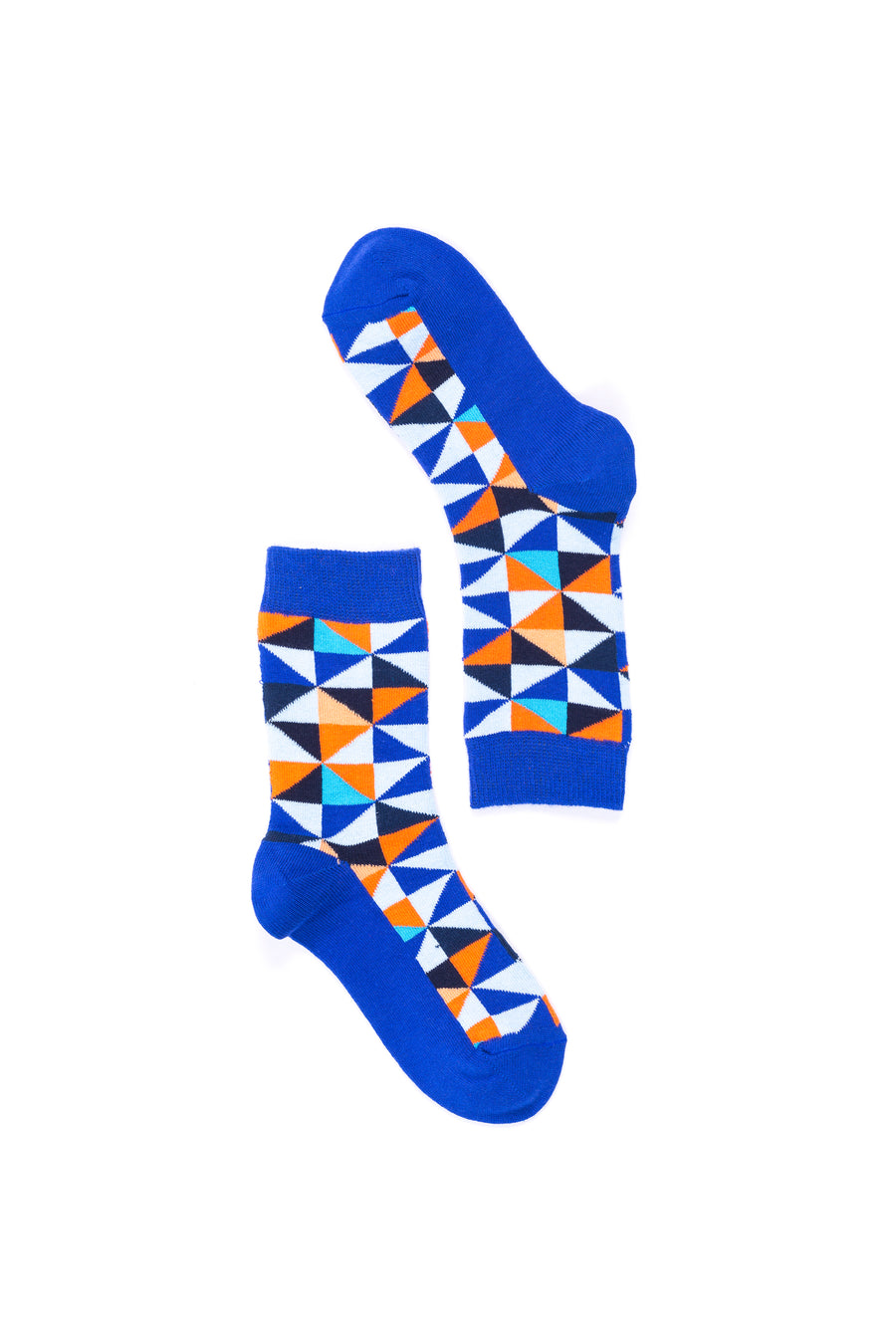 Women's Blue Triangle Socks