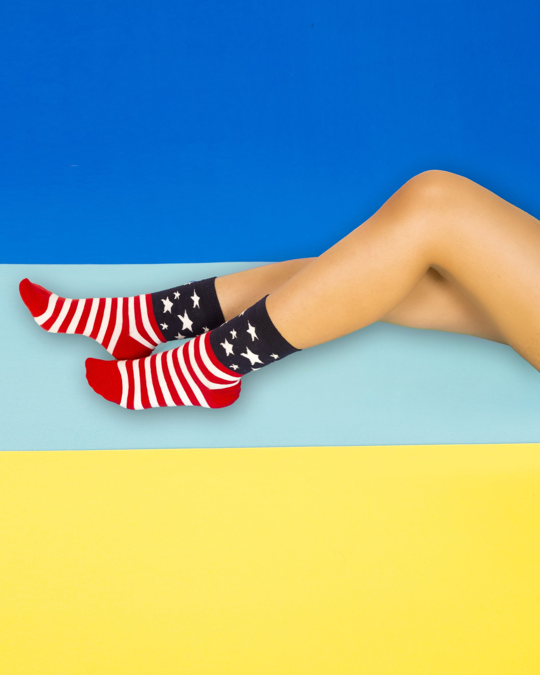 Usa Flag Stars Socks