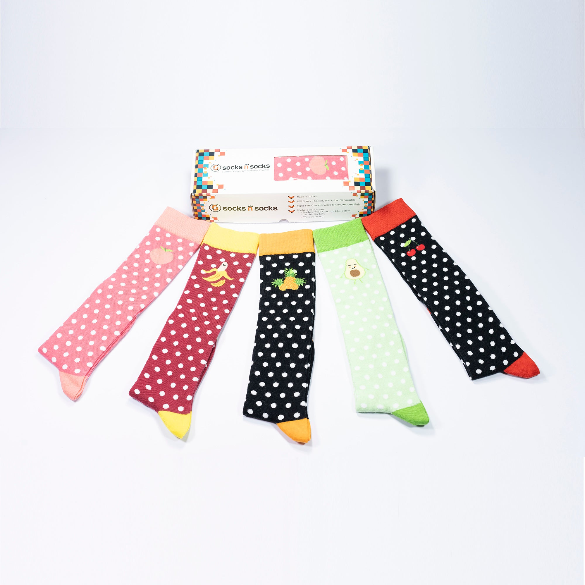 Women's Juicy Fruits Knee High Socks Set