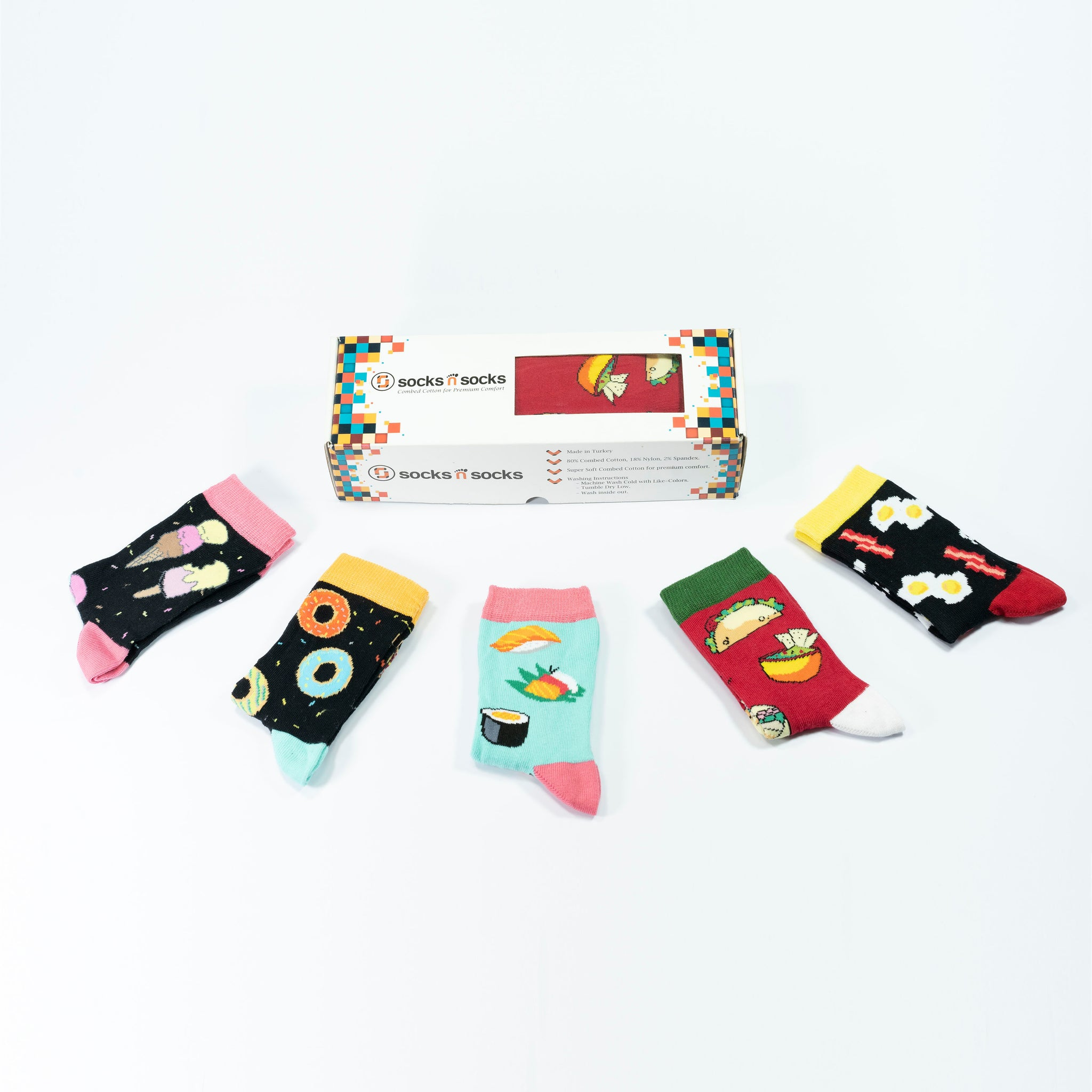 Women's Fast Food Socks Set