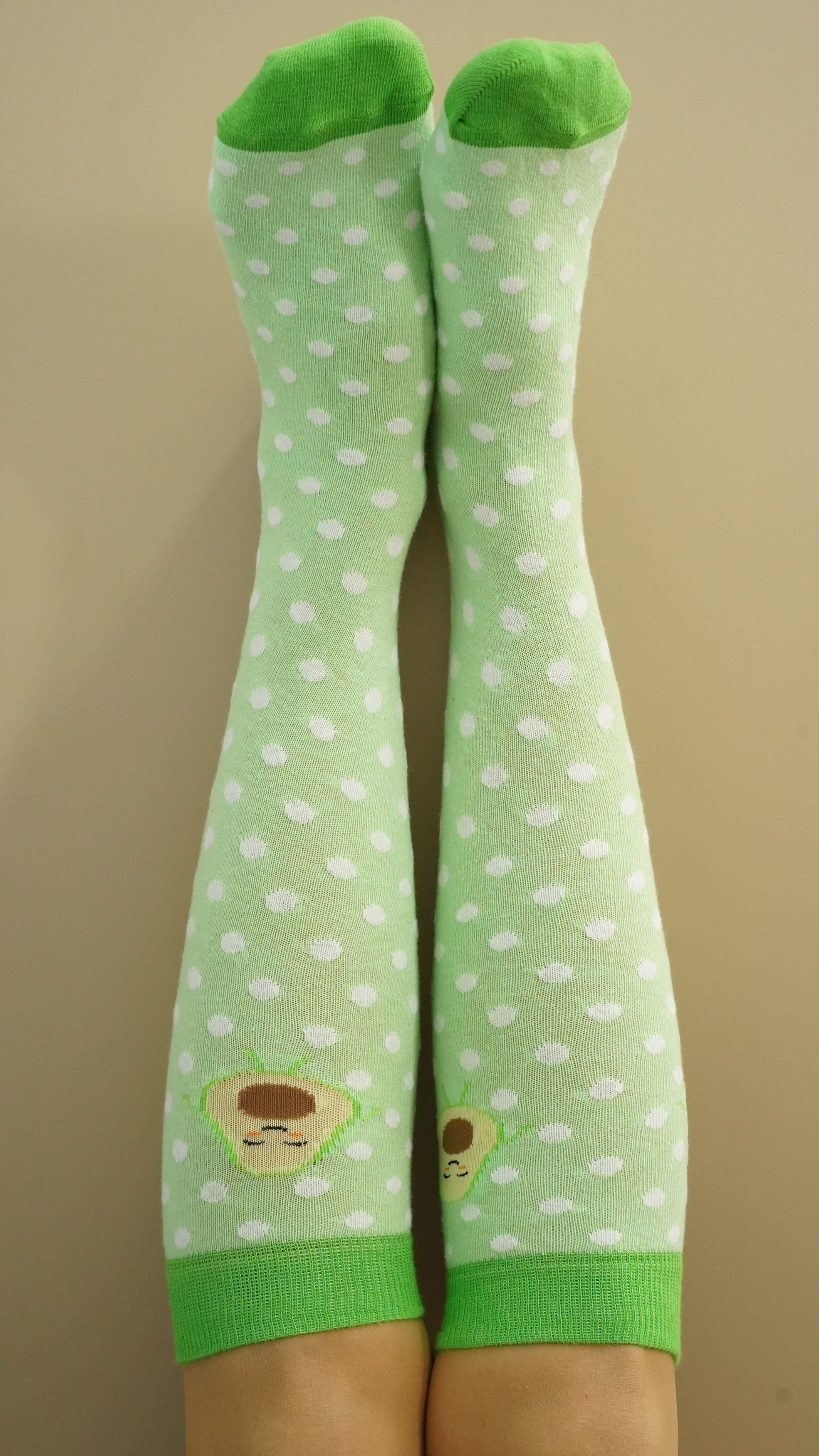 Women's Avocado Dot Knee High Socks