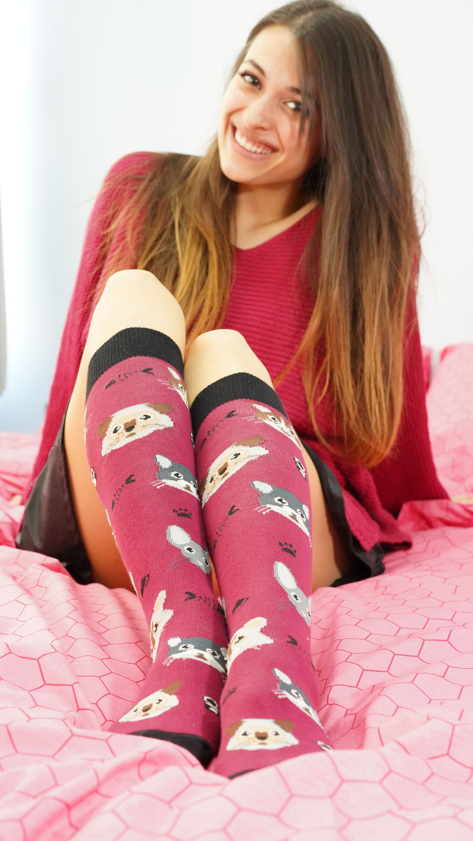 Women's Cute Cats Knee High Socks