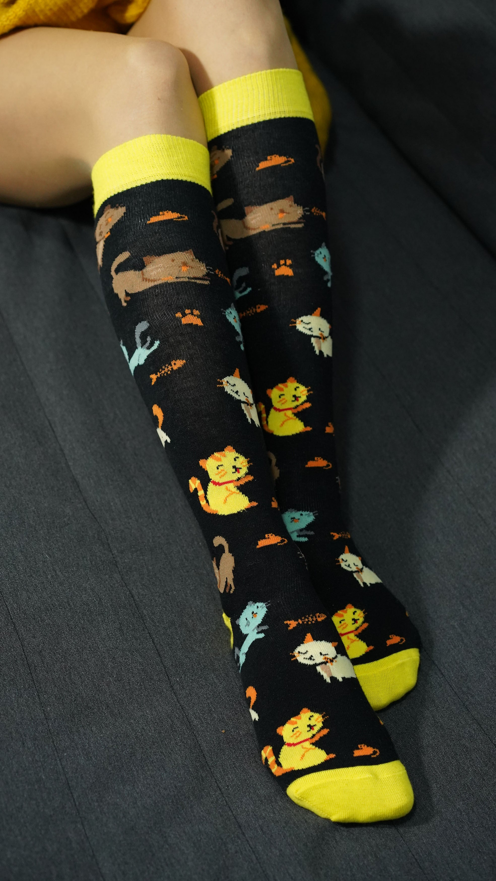 Women's Kittens Knee High Socks