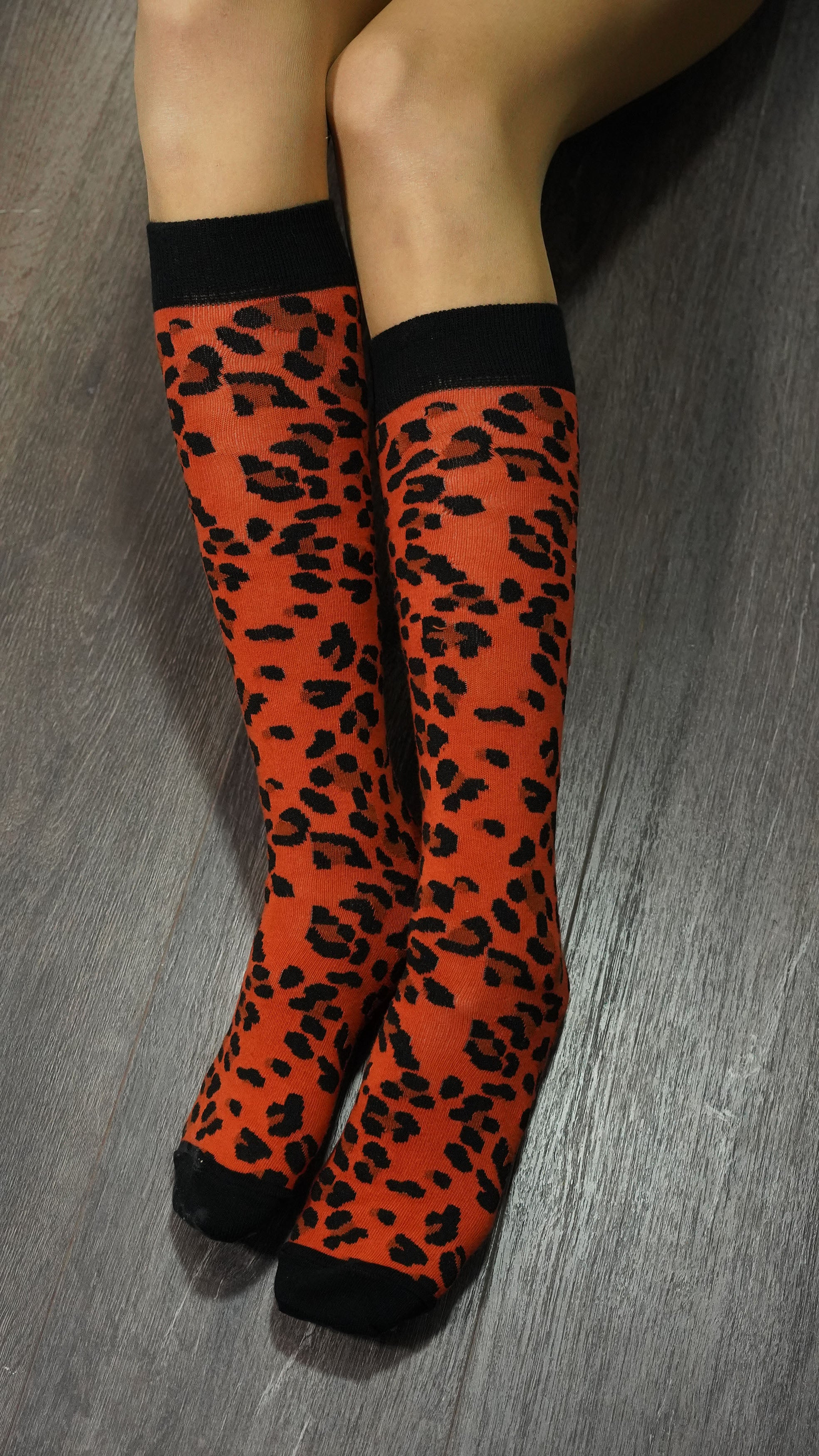 Women's Leopard Knee High Socks