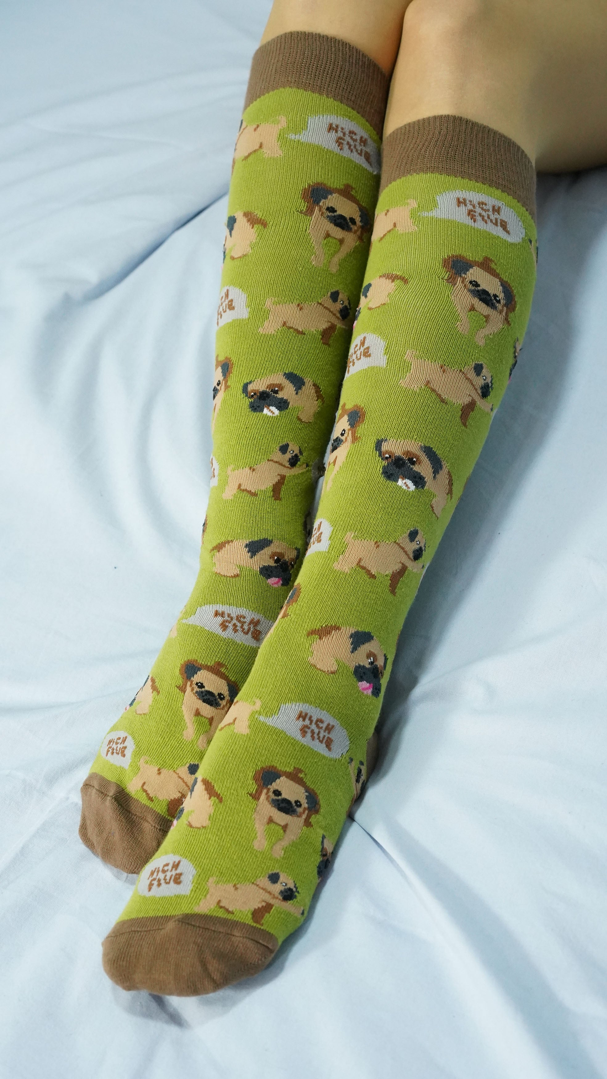 Women's Pug Knee High Socks