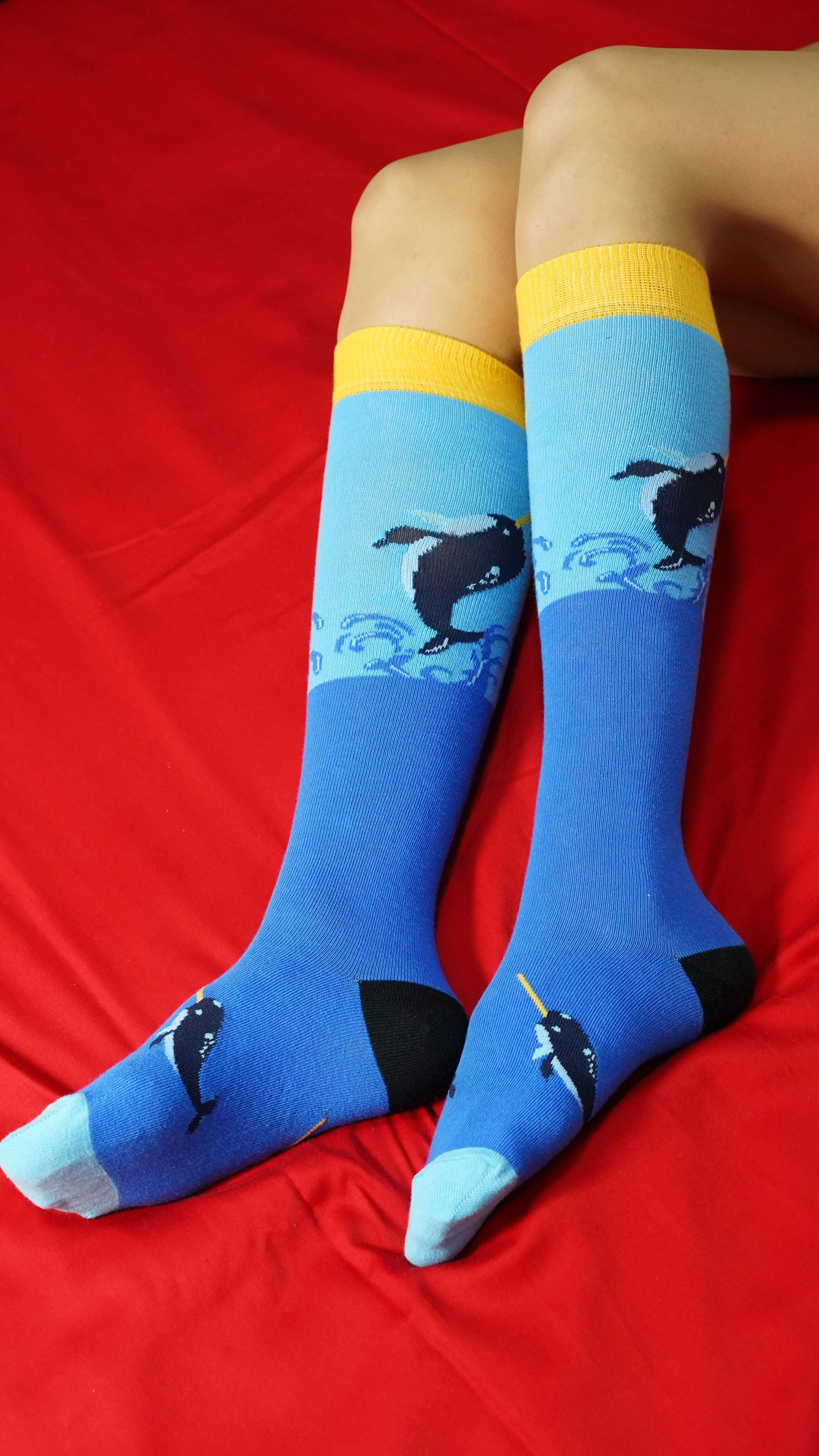 Women's Narwhal Knee High Socks