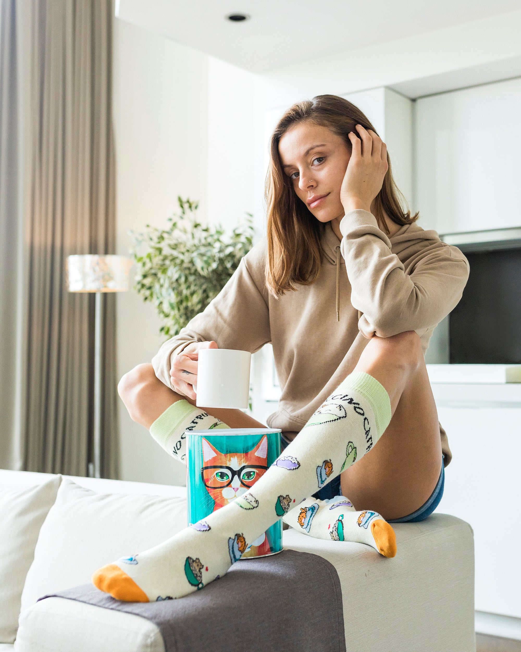 Women's Catpuccino Knee High Socks