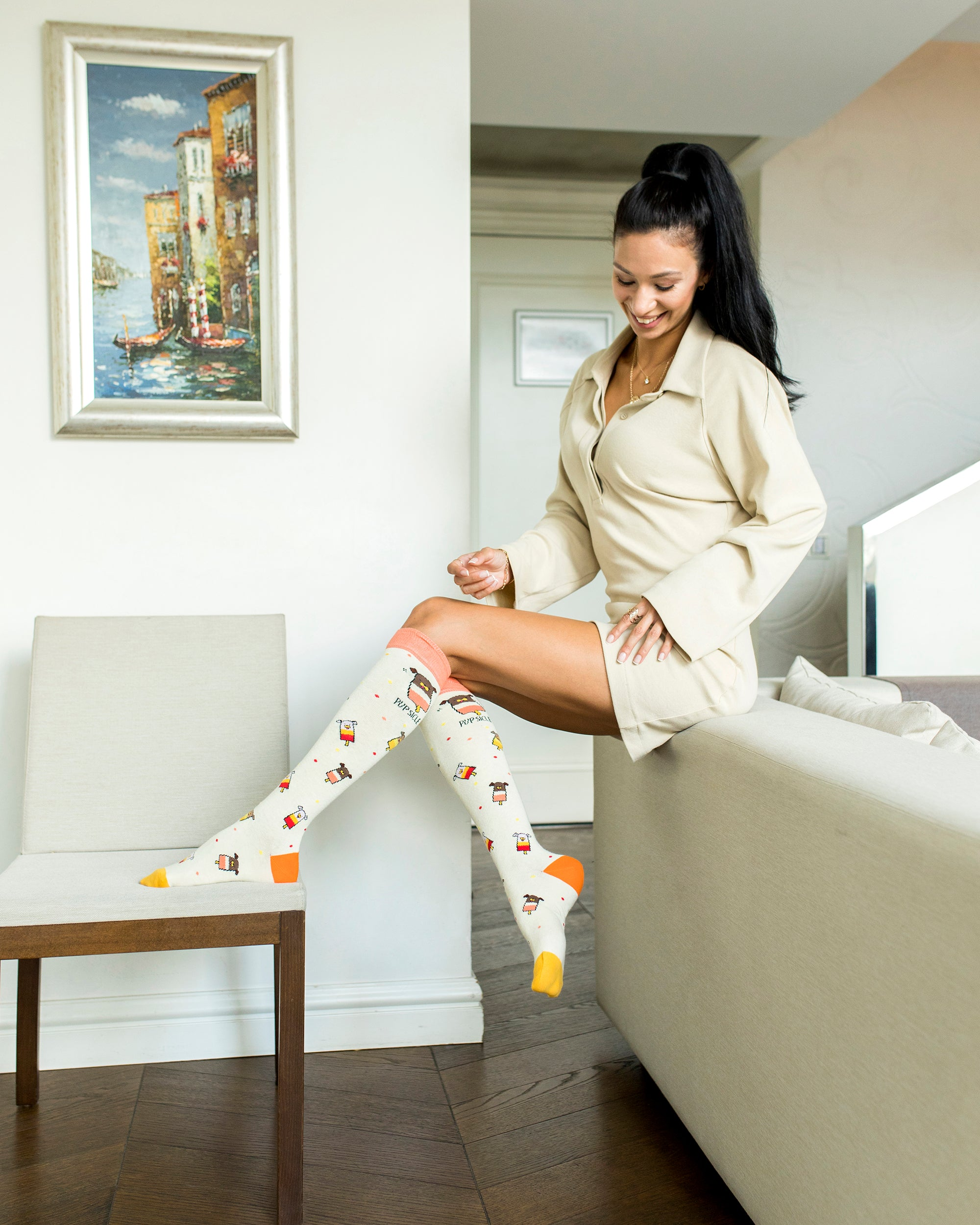 Women's Pupsicle Knee High Socks