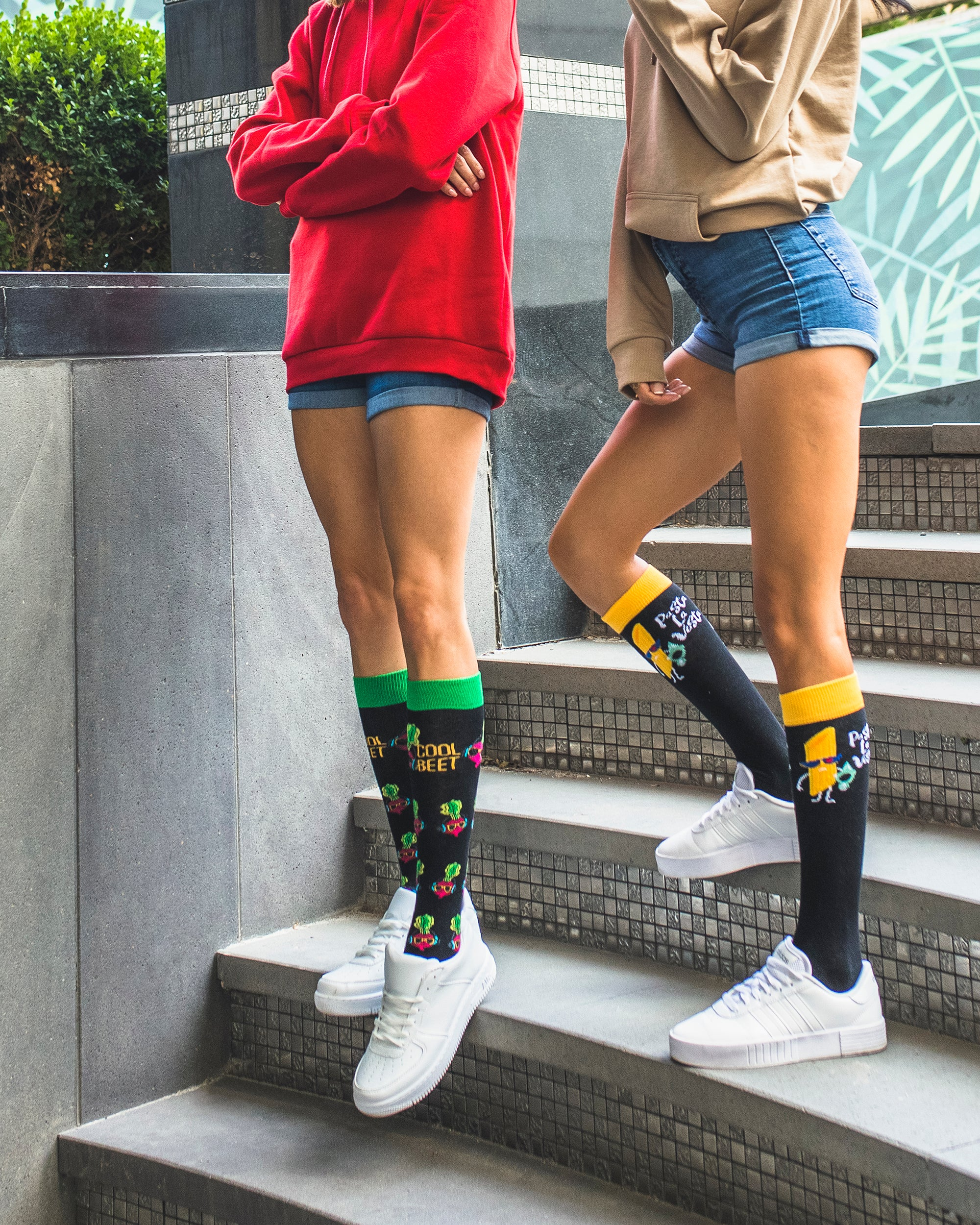 Women's Funky Veggies Knee High Socks Set