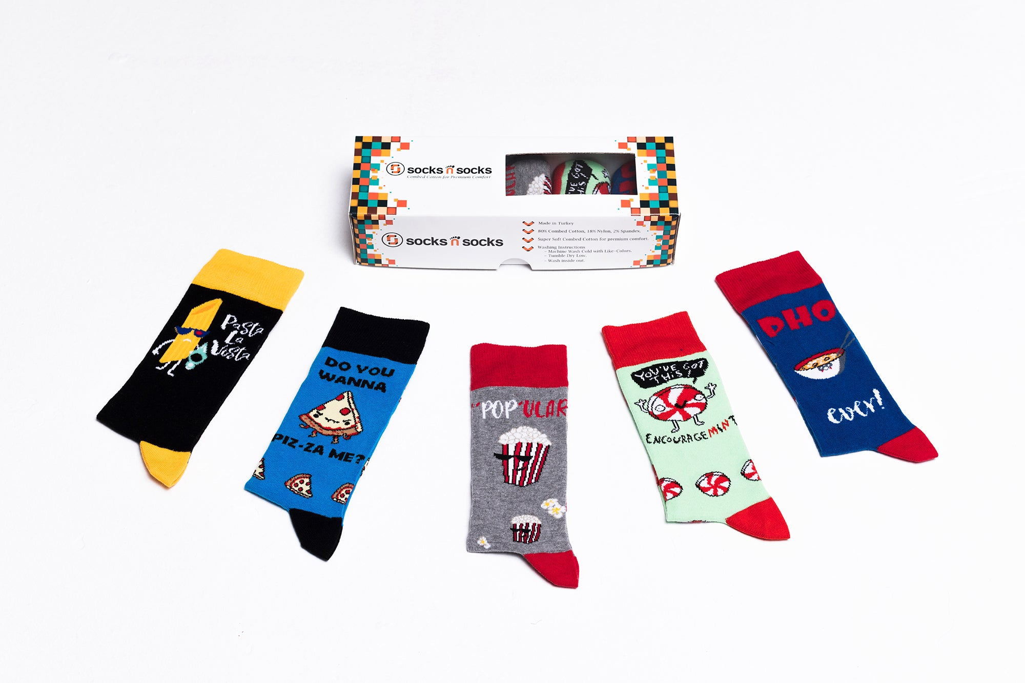 Men's Popular Foods Socks