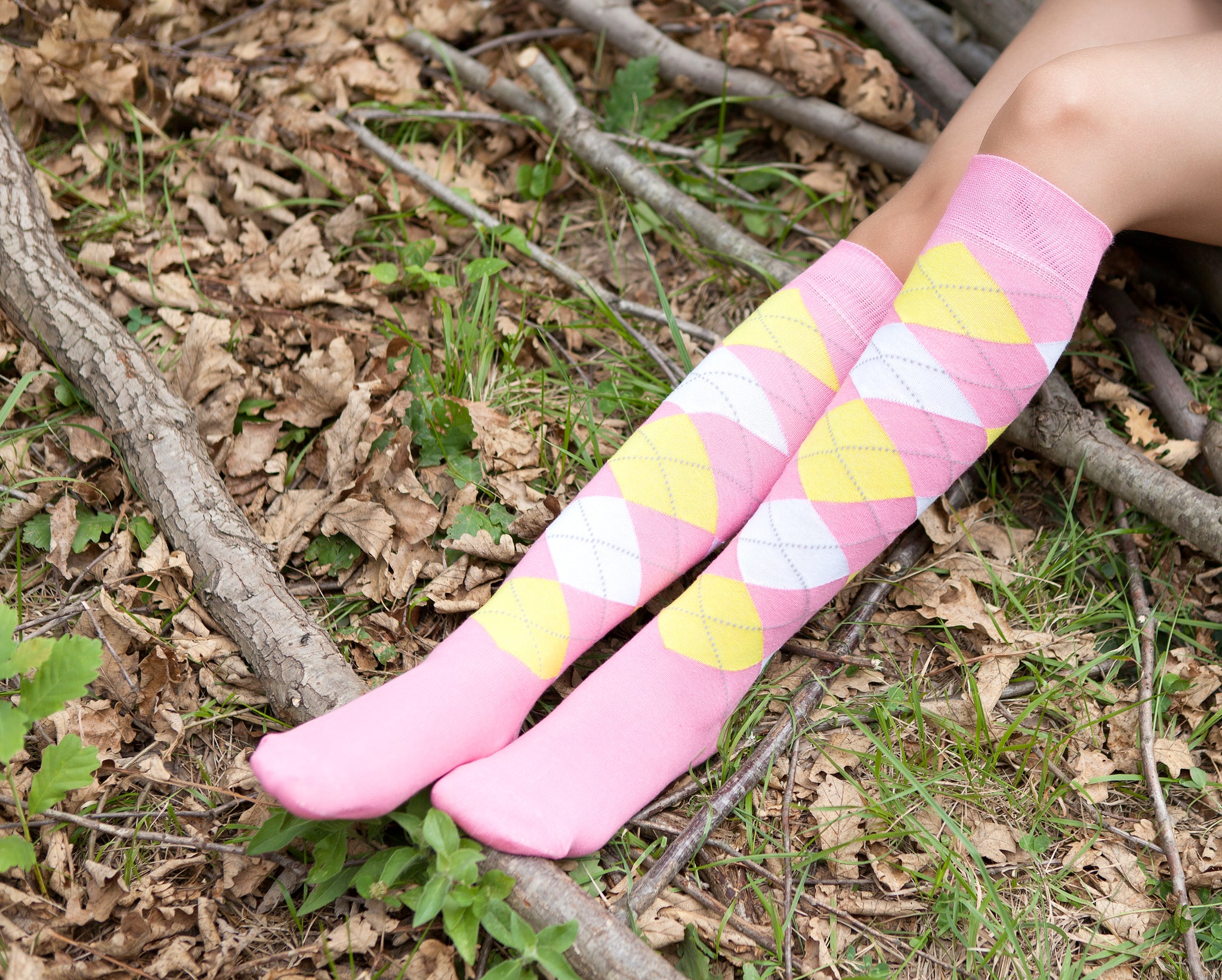 Women's Pink Candy Knee High Socks
