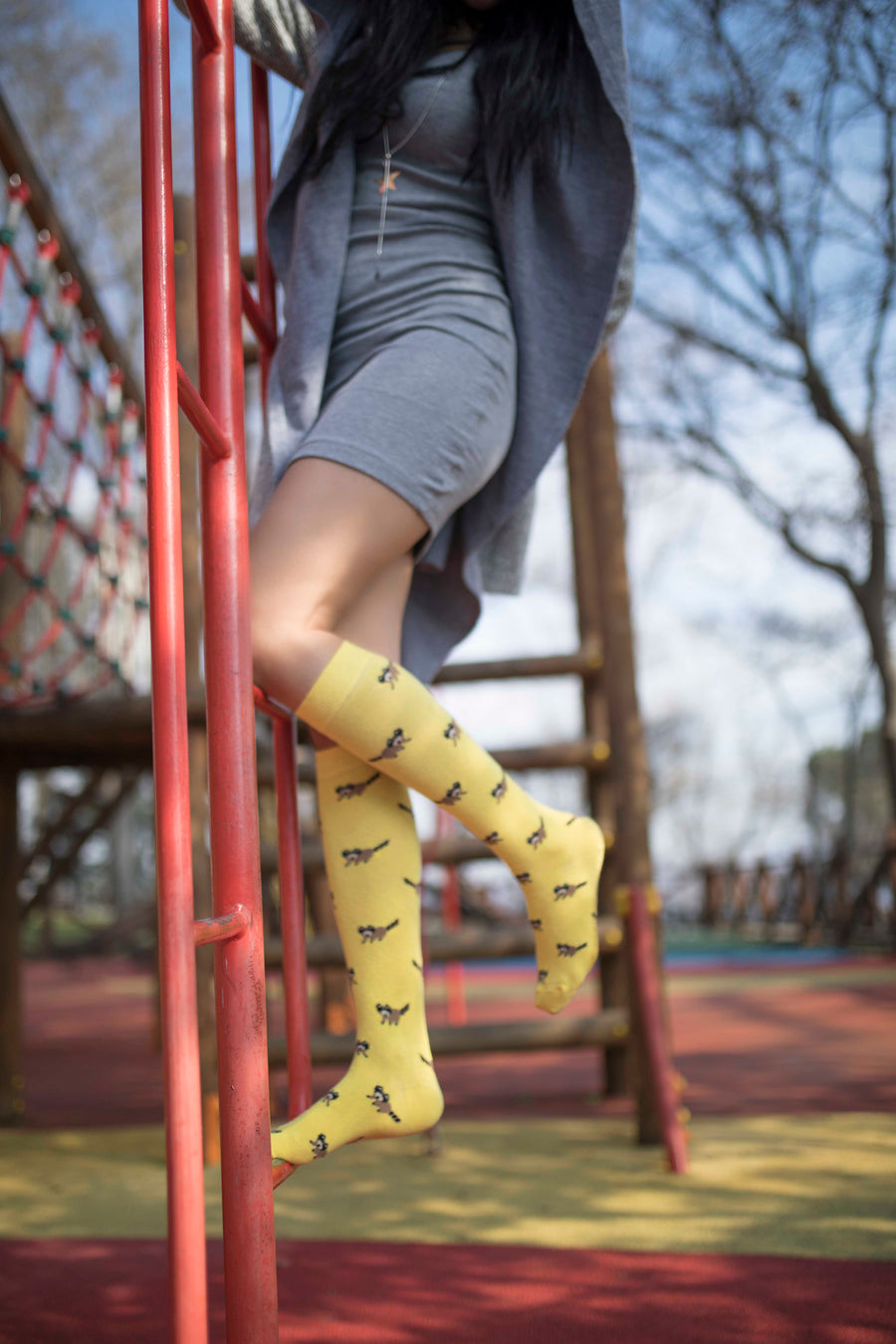 Women's Fox Knee High Socks