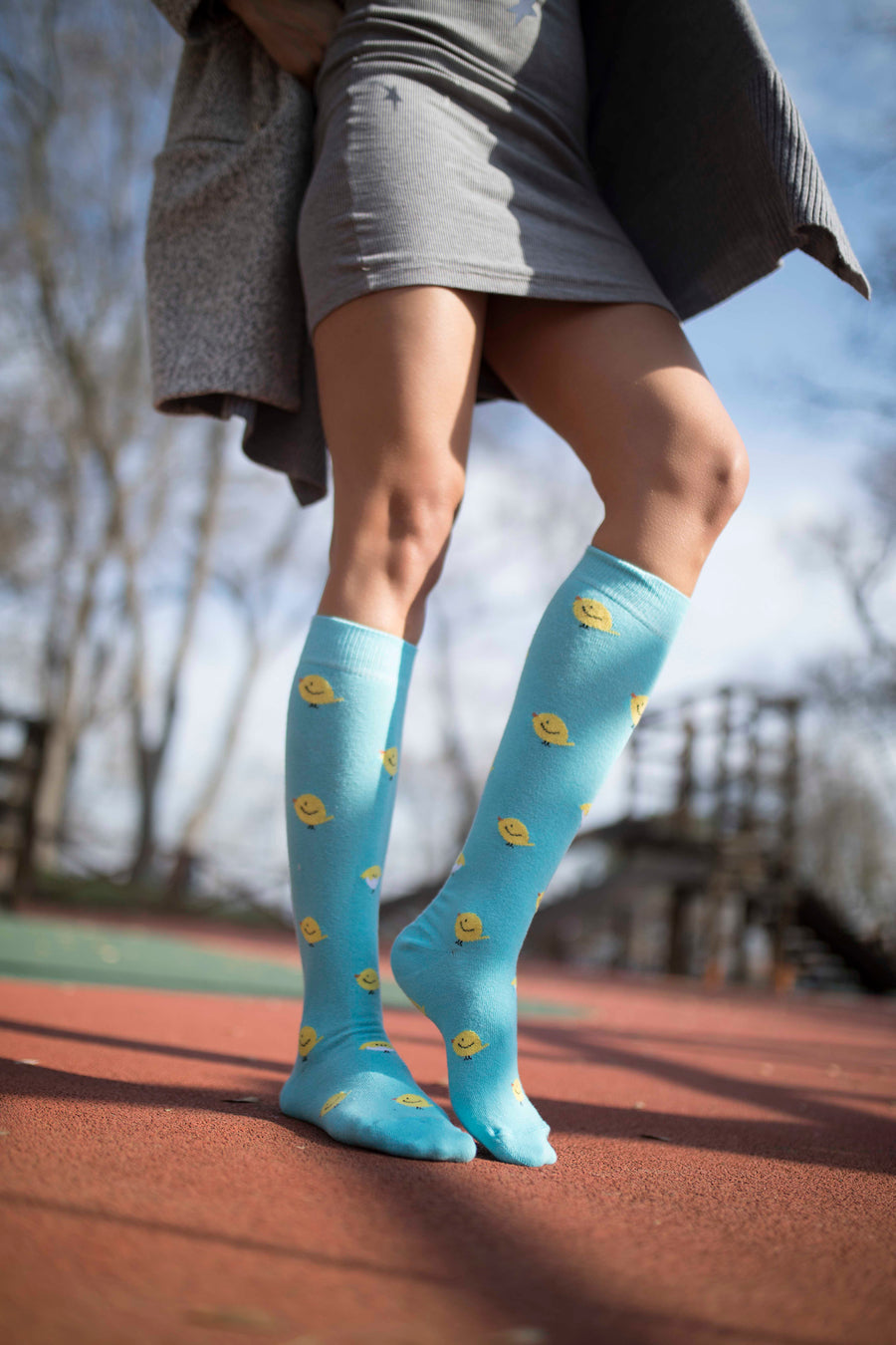 Women's Duck Knee High Socks