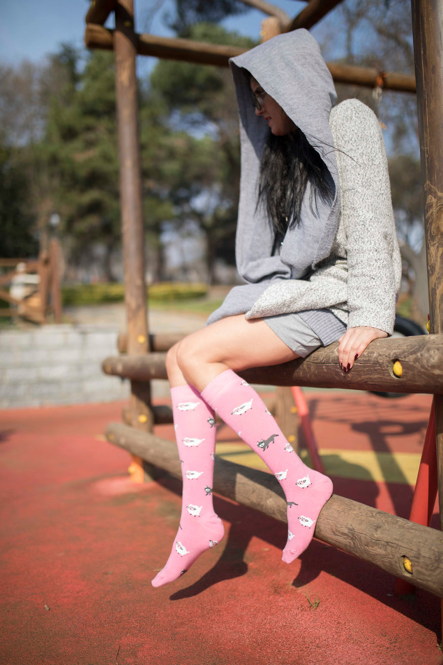 Women's Lamb Knee High Socks