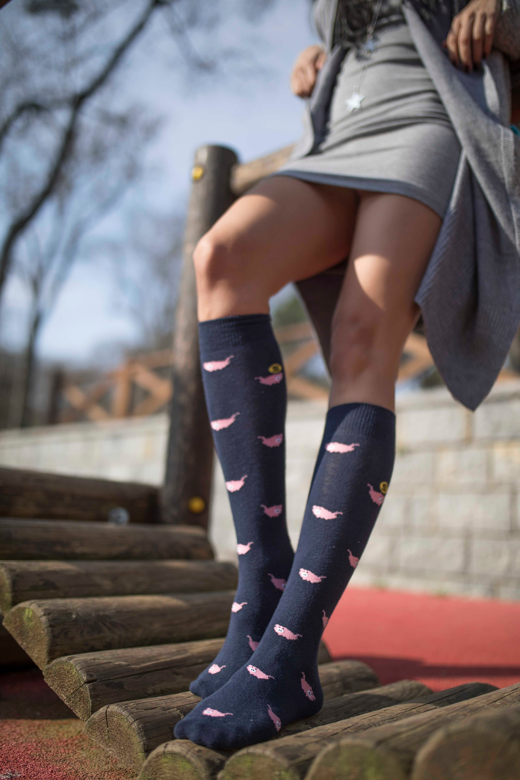 Women's Pig Knee High Socks
