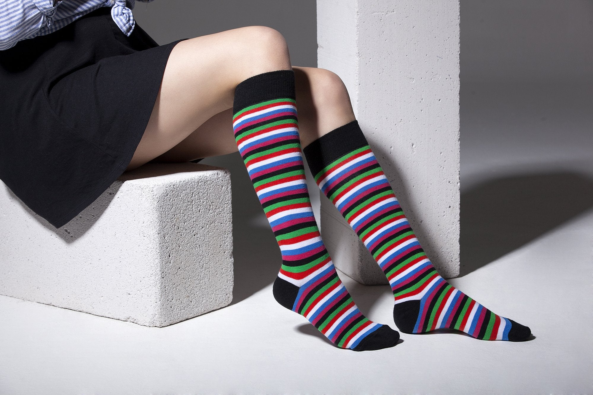 Blackish Stripe Socks