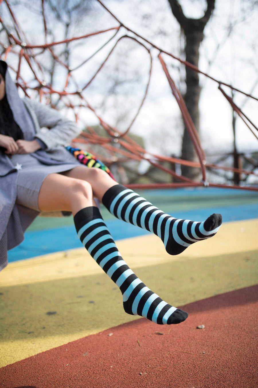 Women's Tealbee Stripe Knee High Socks