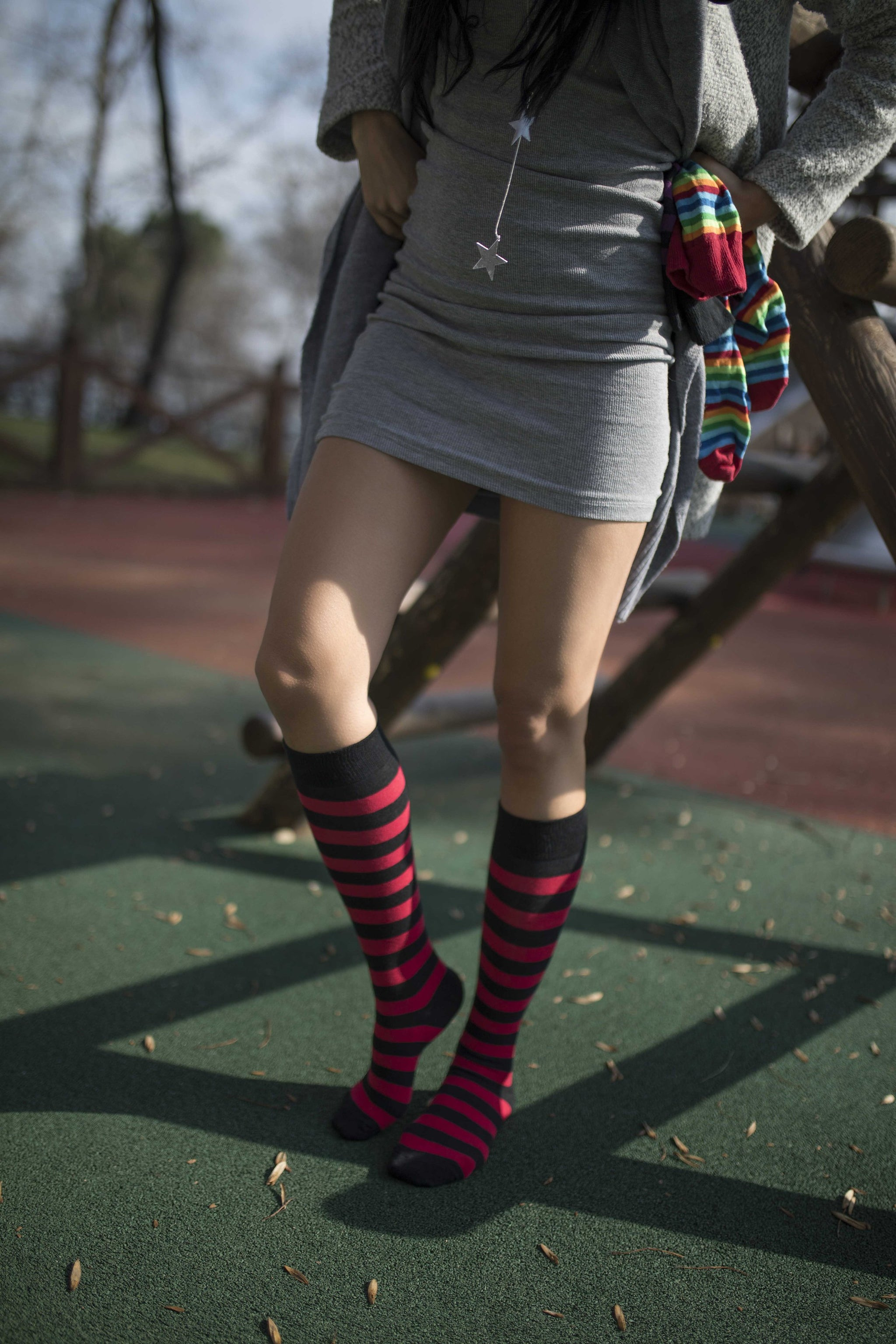 Women's Blaze Stripe Knee High Socks