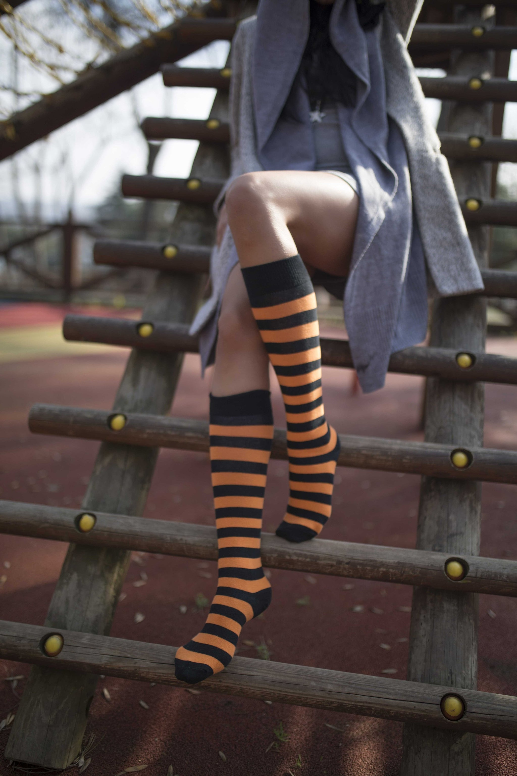 Women's Ginger Stripe Knee High Socks
