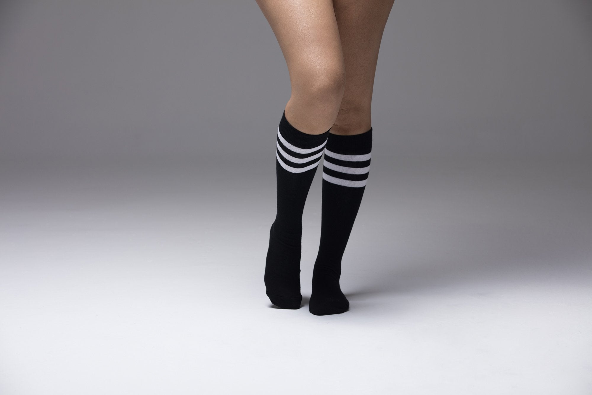 Women's Darkest Stripe Knee High Socks