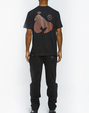 APE OUT BLOCK MONEY TEE BLACK
