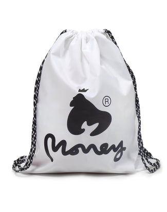 MONEY GYM BAG WHITE
