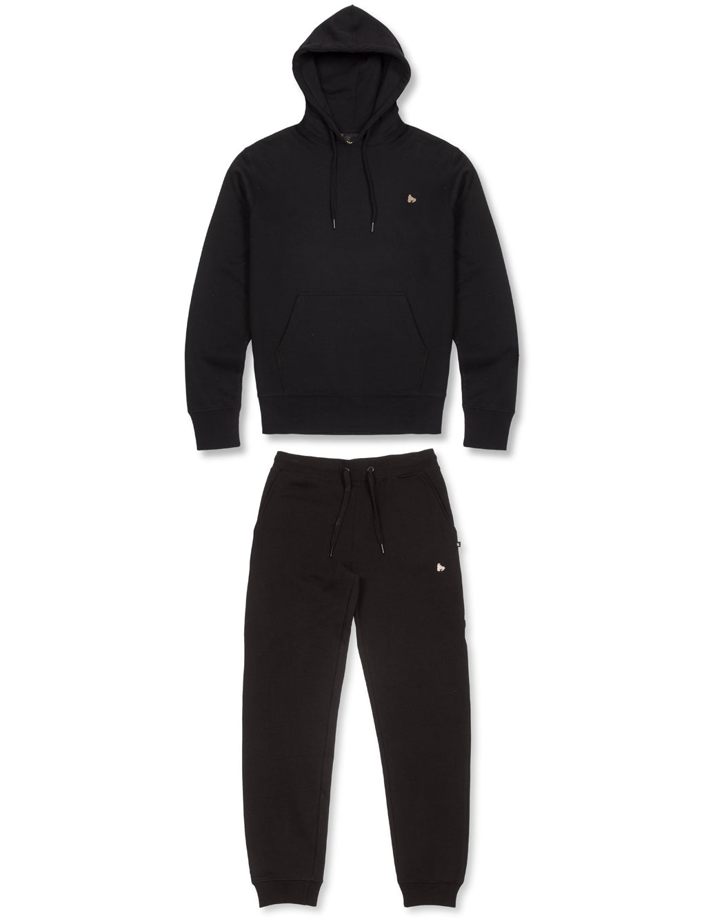 BLACK SUPER FAT PRINTED ZIP HOOD TRACKSUIT