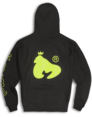 LIMITED EDITION OVERSIZED NEON LOGO HOODY IN BLACK