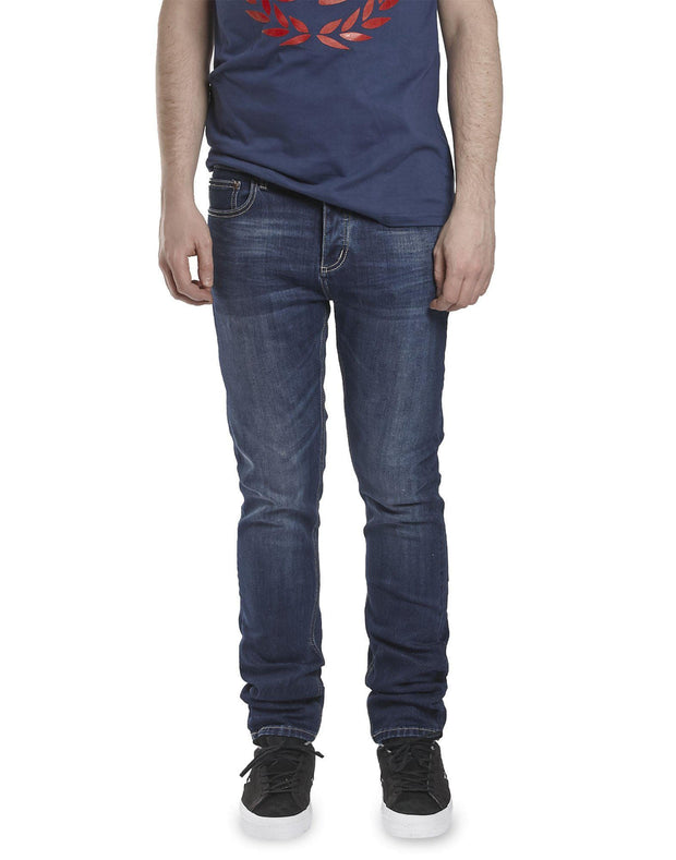 Money Tapered Fit Jeans in Dark Indingo
