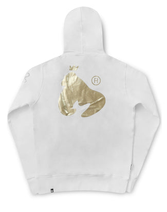 GOLD APE HOOD WHITE