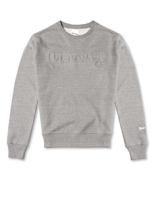 SIGNATURE LOGO EMBOSSED SWEATSHIRT