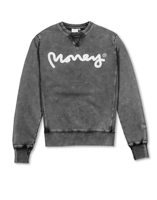 Money Bleached Out Crew Neck Sweatshirt