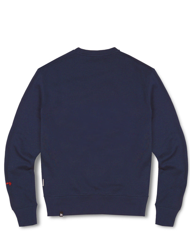 CHENILLE COMBO CHOP CREW NAVY