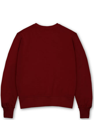 KING 'M' EMBROIDERY CREW DEEP RED