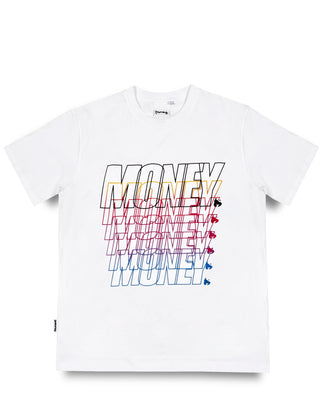 MONEY REPEATER TEE WHITE