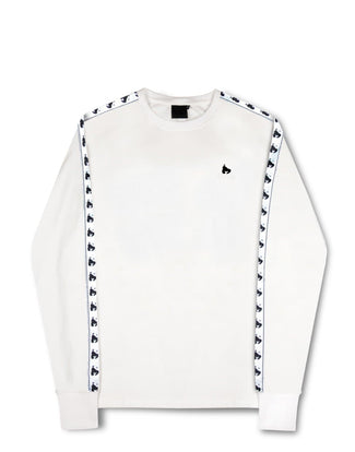 MONEY TAPE L/S TEE WHITE
