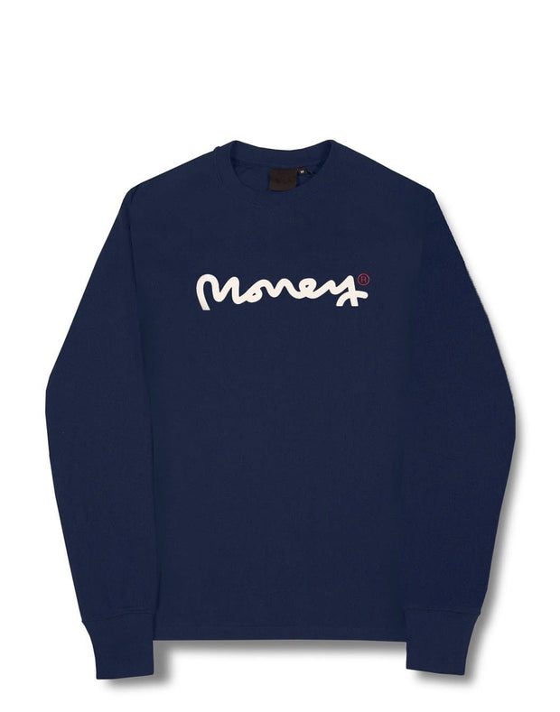 MONEY CLUB L/S TEE NAVY
