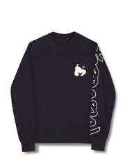 APE SLEEVE L/S TEE BLACK